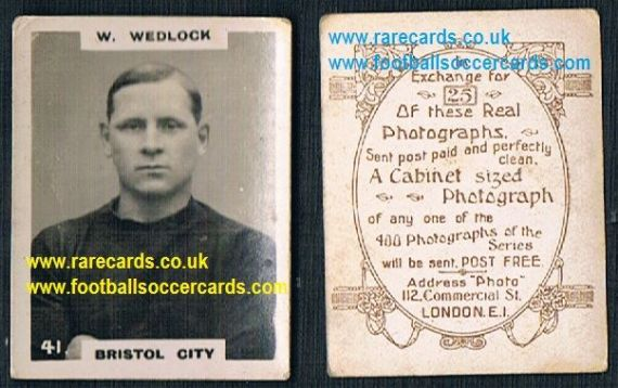 1919 pinnace brown oval back Bristol City Wedlock 41